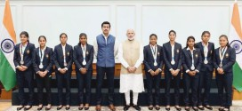 Khalsa Hockey Team Players Reet meets PM Modi